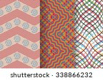 set of 3 abstract patterns.... | Shutterstock .eps vector #338866232