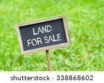 land for sale   chalkboard with