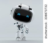 robotic character with digital... | Shutterstock . vector #338873732