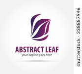 abstract leaf vector logo... | Shutterstock .eps vector #338887946