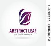 abstract leaf vector logo... | Shutterstock .eps vector #338887946