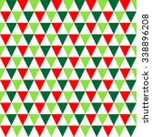 red  green   white triangle... | Shutterstock .eps vector #338896208