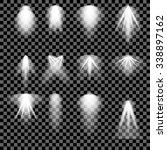 vector concert lighting. stage...   Shutterstock .eps vector #338897162