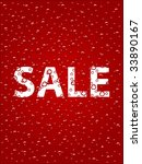 sale poster with bubbles. the... | Shutterstock .eps vector #33890167