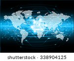 dark blue color light abstract... | Shutterstock .eps vector #338904125