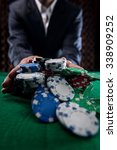Small photo of Poker Player Going All In