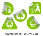set of green labels badges and... | Shutterstock .eps vector #33891910