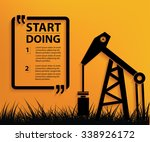 oil industry design your text... | Shutterstock .eps vector #338926172