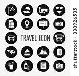 set of travel icon