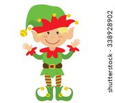 christmas elf vector... | Shutterstock .eps vector #338928902