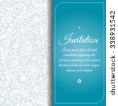 vector vintage invitation card... | Shutterstock .eps vector #338931542