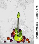 guitar vector illustration   Shutterstock .eps vector #33893575