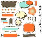 retro copy space elements   set ... | Shutterstock .eps vector #338938082