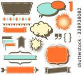 retro copy space elements   set ... | Shutterstock .eps vector #338938082