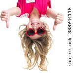 A Little Girl With Upside Down...