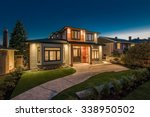 big luxury  modern house at... | Shutterstock . vector #338950502