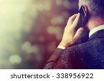 business man making a phone... | Shutterstock . vector #338956922
