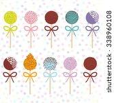 Colorful Sweet Cake Pops Set...