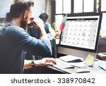 calender planner organization... | Shutterstock . vector #338970842