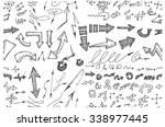 hand drawn doodle seamless... | Shutterstock .eps vector #338977445