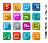 household appliances  icons ... | Shutterstock .eps vector #338982722