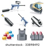 Vector Paintball Icon Set