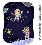 stickman illustration of kids... | Shutterstock .eps vector #338992886