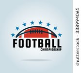 american football logo template ... | Shutterstock .eps vector #338994065