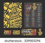 creative menu template  art... | Shutterstock .eps vector #339003296