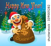 the bag of money in the new year | Shutterstock . vector #339005282