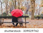 Couple Under Umbrella In Autum...