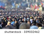 crowd of anonymous people on... | Shutterstock . vector #339032462