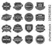 vintage labels collection | Shutterstock .eps vector #339038582