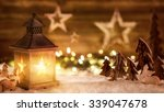 cozy christmas arrangement with ... | Shutterstock . vector #339047678