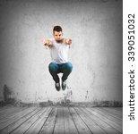 crazy man jumping | Shutterstock . vector #339051032