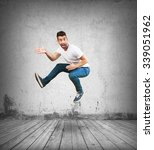 crazy man jumping | Shutterstock . vector #339051962