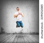 crazy man jumping | Shutterstock . vector #339052085