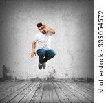 crazy man jumping | Shutterstock . vector #339054572