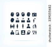 business man icons | Shutterstock .eps vector #339055682