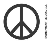 peace symbol   | Shutterstock .eps vector #339057266