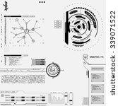 futuristic graphic user... | Shutterstock .eps vector #339071522