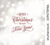 merry christmas and happy new... | Shutterstock .eps vector #339078986