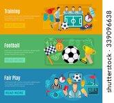 soccer horizontal banner set... | Shutterstock .eps vector #339096638