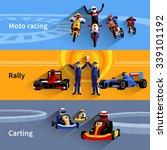 racer horizontal banners set... | Shutterstock .eps vector #339101192