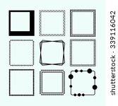 set of frames. vector... | Shutterstock .eps vector #339116042