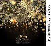 snowflake background. vector... | Shutterstock .eps vector #339117692