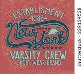 college new york typography  t... | Shutterstock .eps vector #339134528