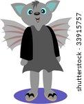 bat girl vector   Shutterstock .eps vector #33915757