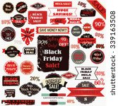 black friday labels and ribbons ... | Shutterstock .eps vector #339163508
