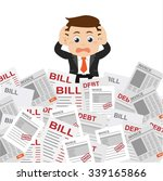 businesspeople stressed and... | Shutterstock .eps vector #339165866